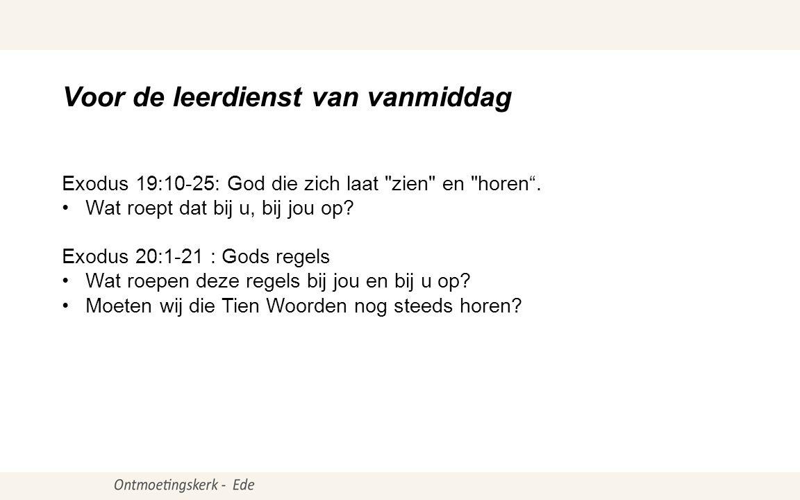 Psalm97:1, 2 ● Exodus19:9b- 25 LvdK457:3, 4 H.C.Zondag:32- 33 Psalm147:7 Opwekking430: Gezang 182E:Amen Liturgieds.