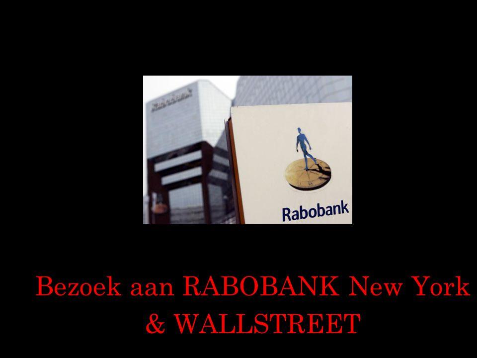 Bezoek aan RABOBANK New York & WALLSTREET