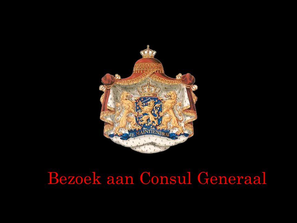 Bezoek aan Consul Generaal