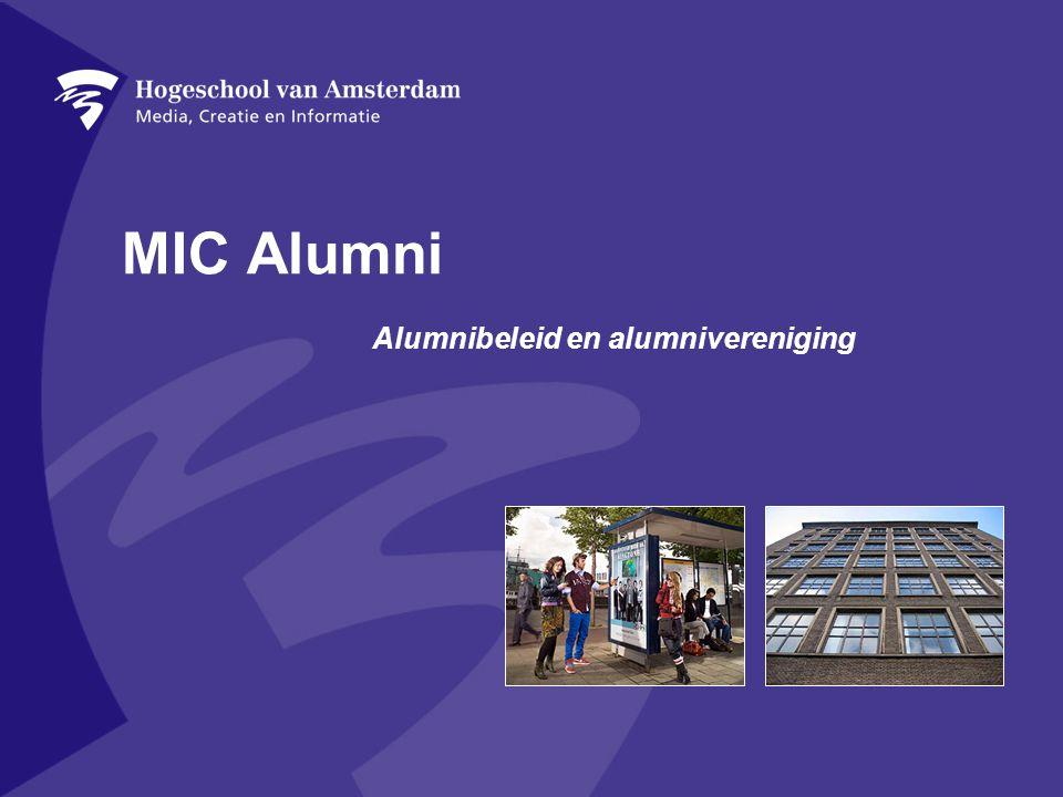 MIC Alumni Alumnibeleid en alumnivereniging