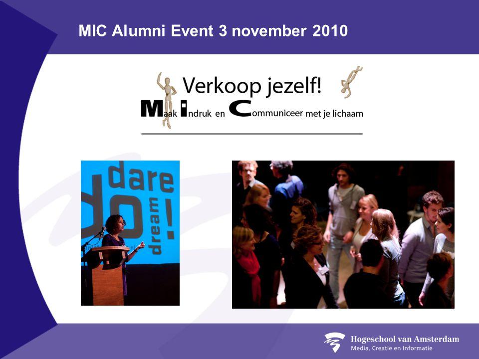 MIC Alumni Event 3 november 2010