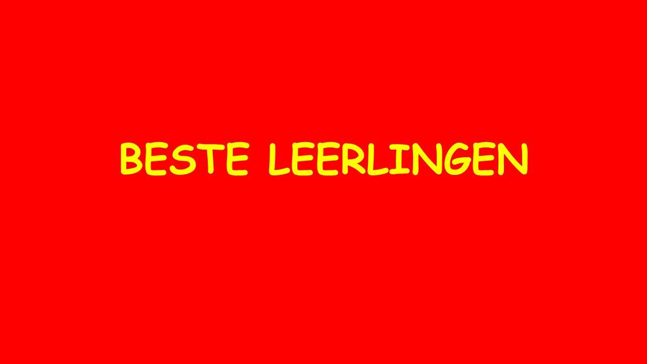 BESTE LEERLINGEN