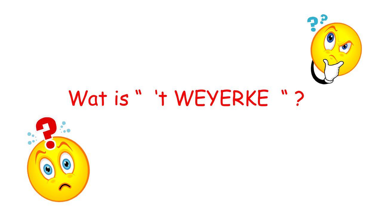 """Wat is """" 't WEYERKE """" ?"""