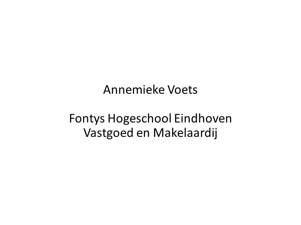 Annemieke Voets Fontys Hogeschool Eindhoven Vastgoed en Makelaardij