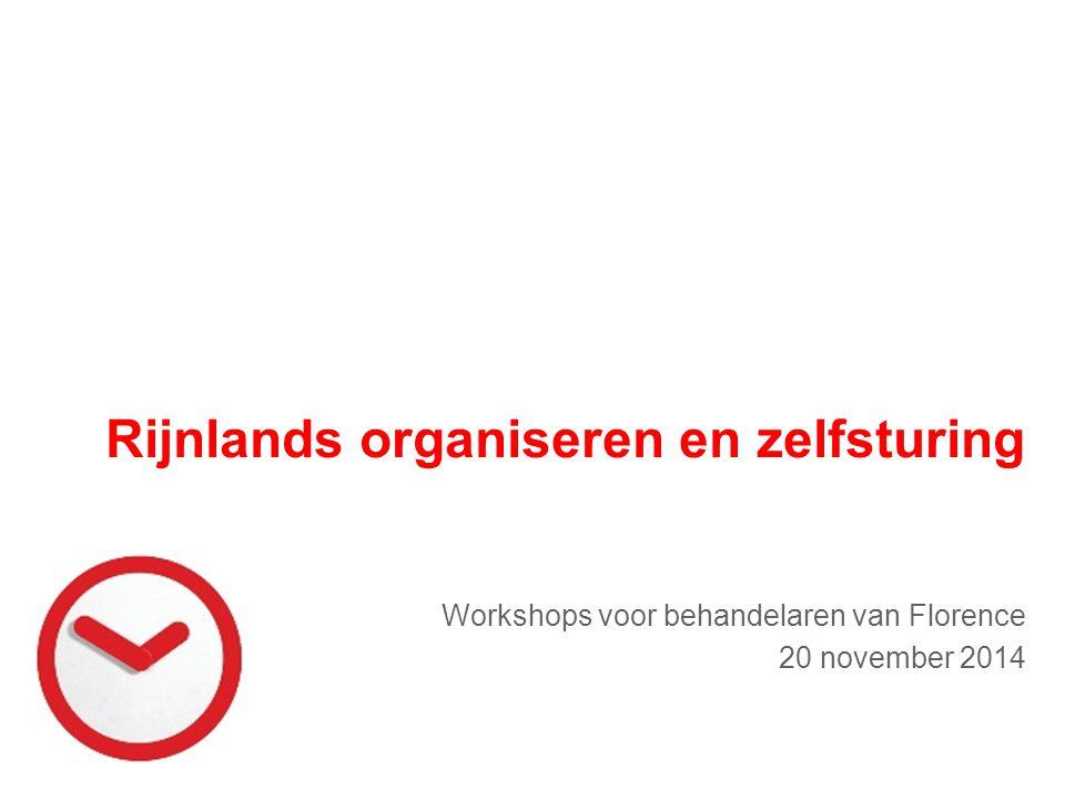 Rijnlands organiseren en zelfsturing Workshops voor behandelaren van Florence 20 november 2014
