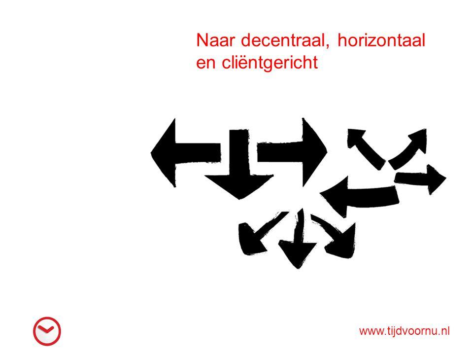Naar decentraal, horizontaal en cliëntgericht www.tijdvoornu.nl