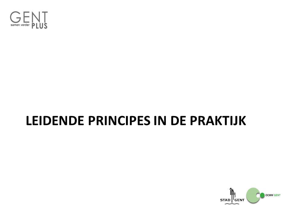 LEIDENDE PRINCIPES IN DE PRAKTIJK
