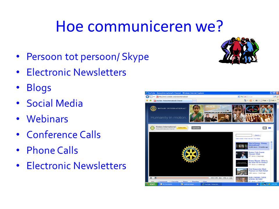 Hoe communiceren we.
