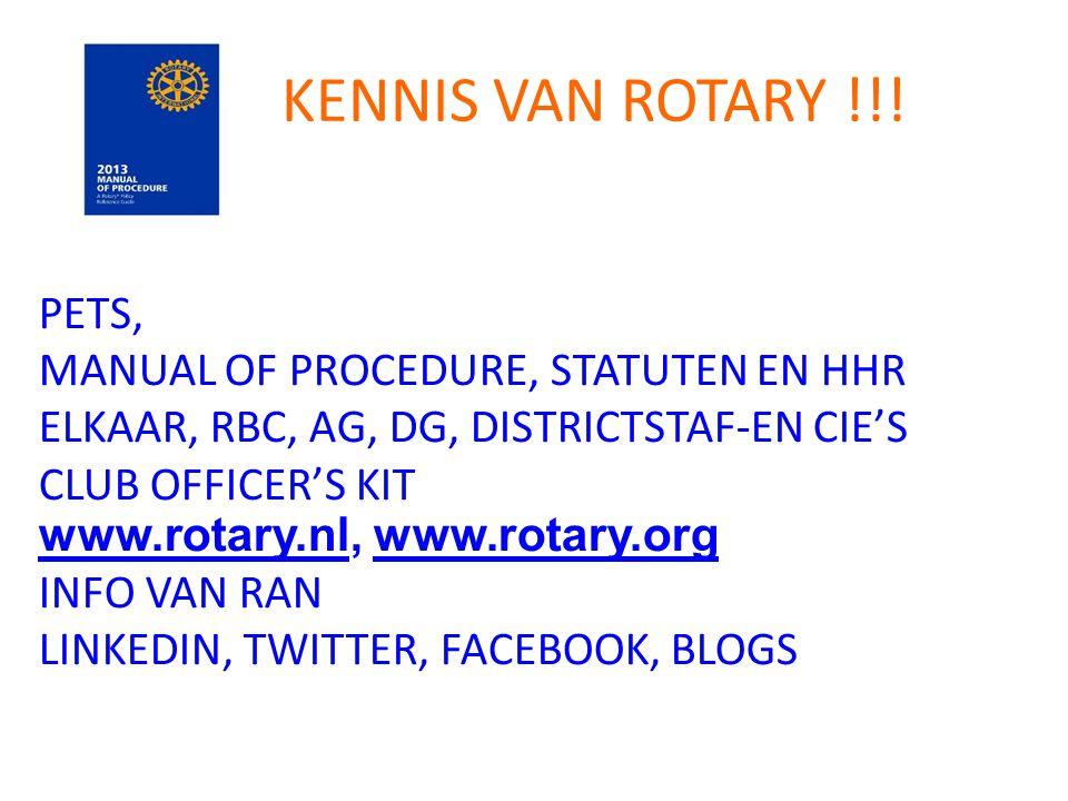 KENNIS VAN ROTARY !!.