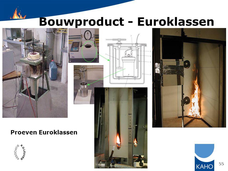 Bouwproduct - Euroklassen 55 Proeven Euroklassen