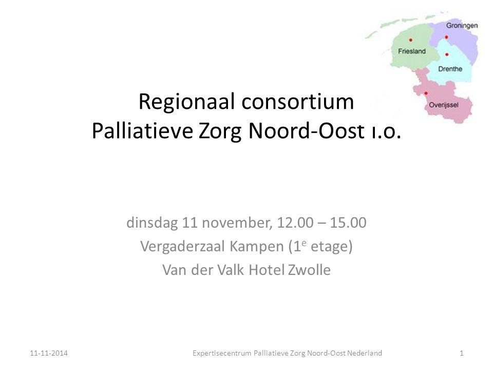Agenda 12.00Lunch (in de Lounge, 1 e verdieping) 12.30Stand van zaken NPPZ Rapportage vanuit alle gezamenlijke EPZ's op vrijdag 7 november (A.