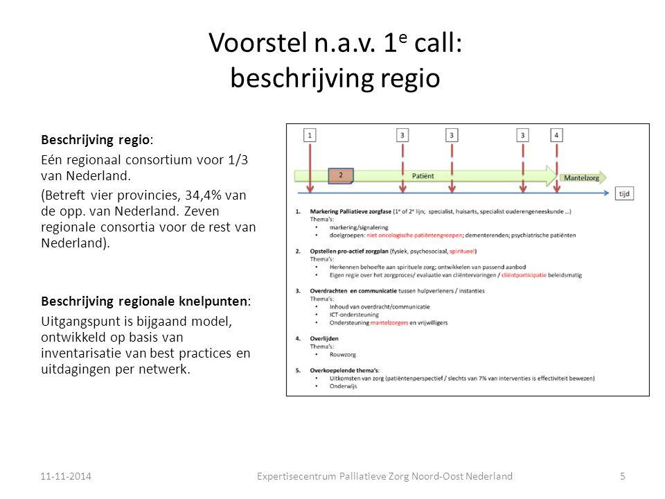 Voorstel n.a.v.1 e call: beschrijving samenwerkingsstructuur Top down.