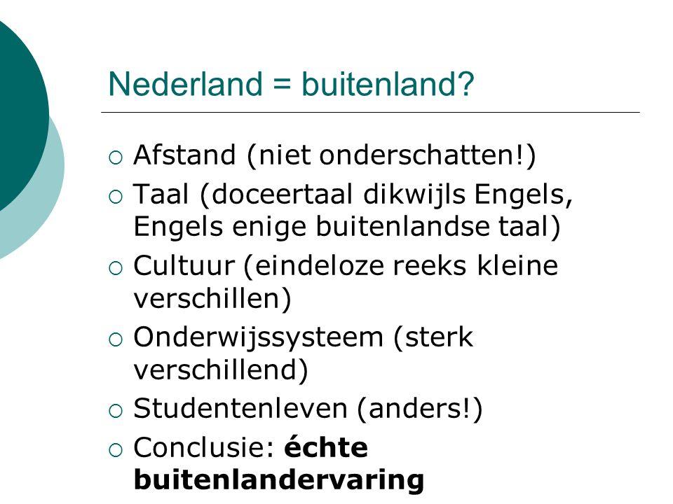 Nederland = buitenland.