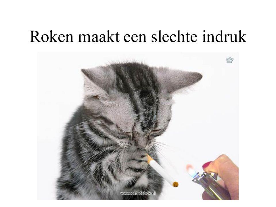 Roken maakt een slechte indruk