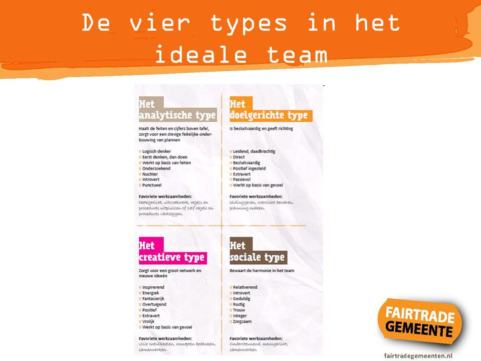 De vier types in het ideale team