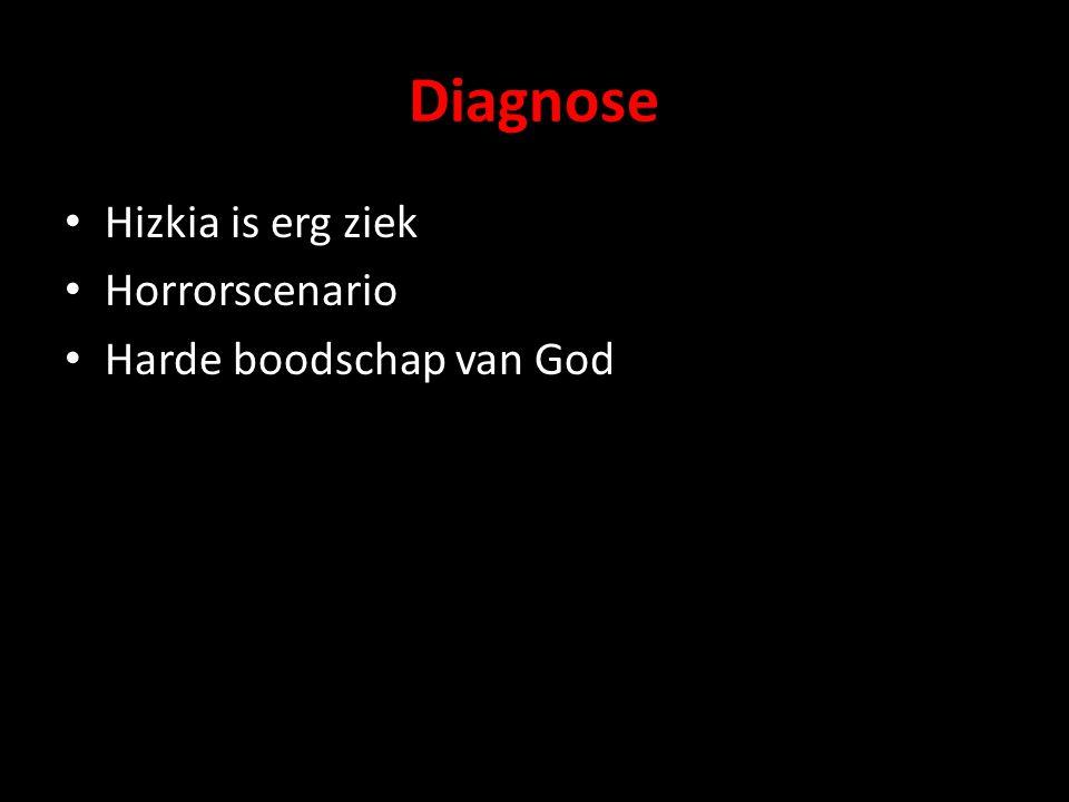 Diagnose Hizkia is erg ziek Horrorscenario Harde boodschap van God
