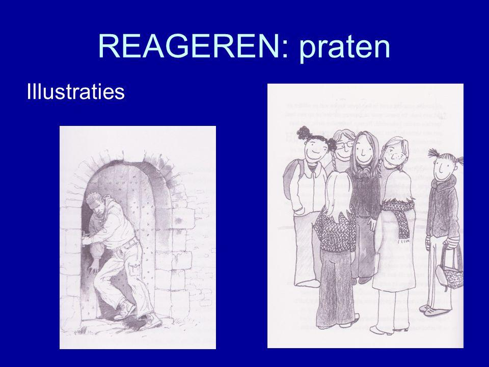 REAGEREN: praten Illustraties