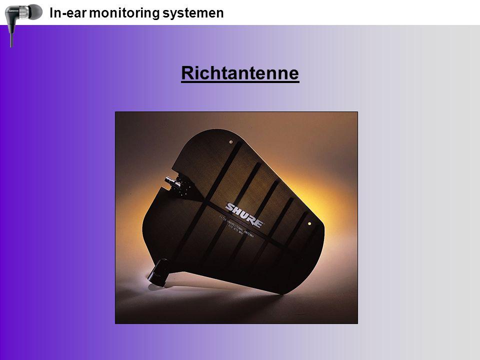 In-ear monitoring systemen Richtantenne