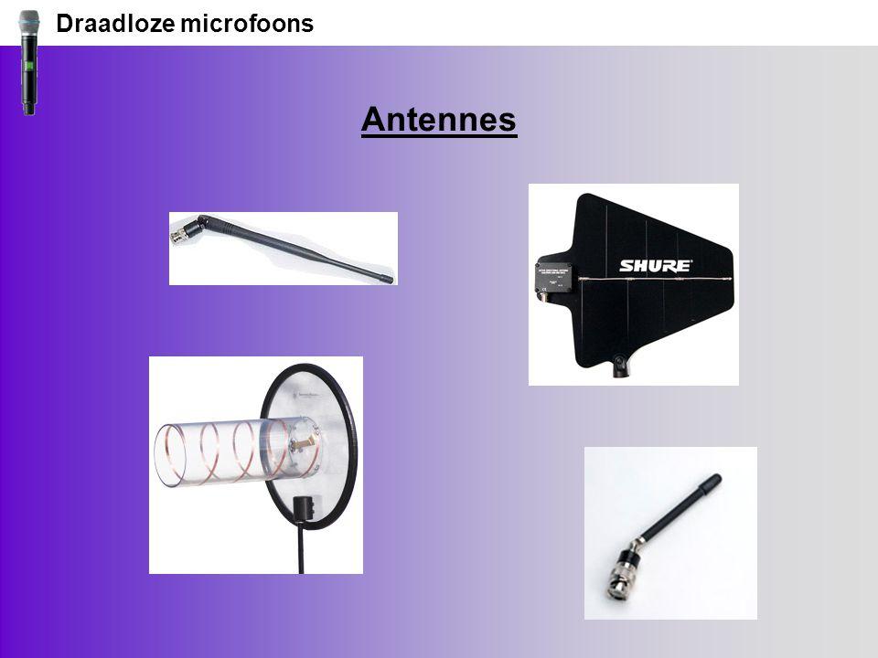 Draadloze microfoons Antennes
