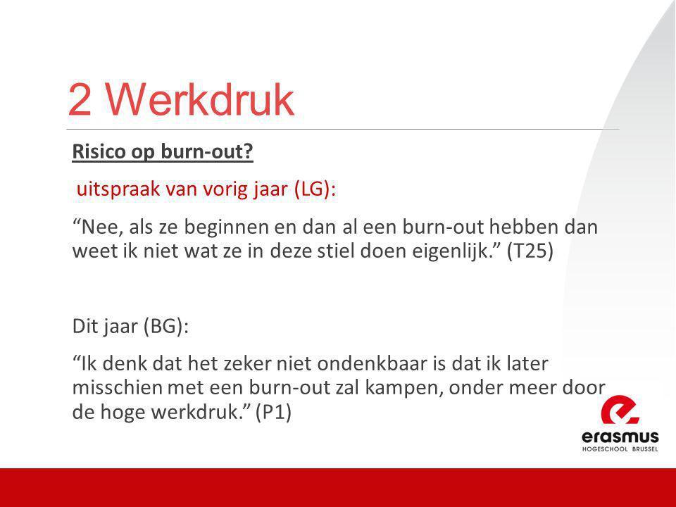 2 Werkdruk Risico op burn-out.