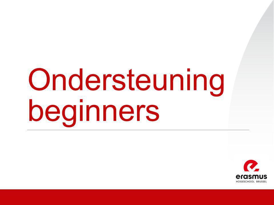 Ondersteuning beginners