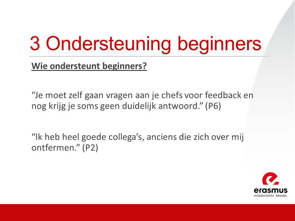 3 Ondersteuning beginners Wie ondersteunt beginners.