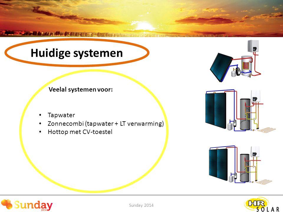Sunday 2014 Ontwikkelingen Integratie systemen Stap 2) Systeem integratie lucht-water warmtepomp / PV / zonthermisch
