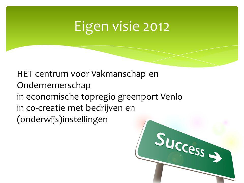 Eigen visie 2012 HET centrum voor Vakmanschap en Ondernemerschap in economische topregio greenport Venlo in co-creatie met bedrijven en (onderwijs)ins
