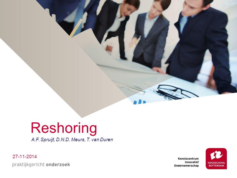 Stelling Reshoring is niet relevant voor de studenten van HR EENS / ONEENS