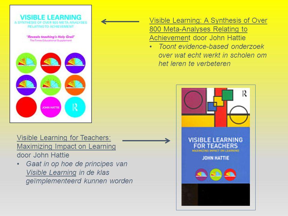 Visible Learning: A Synthesis of Over 800 Meta-Analyses Relating to Achievement door John Hattie Toont evidence-based onderzoek over wat echt werkt in