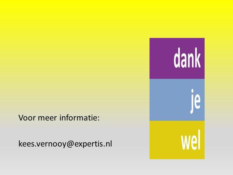 Voor meer informatie: kees.vernooy@expertis.nl