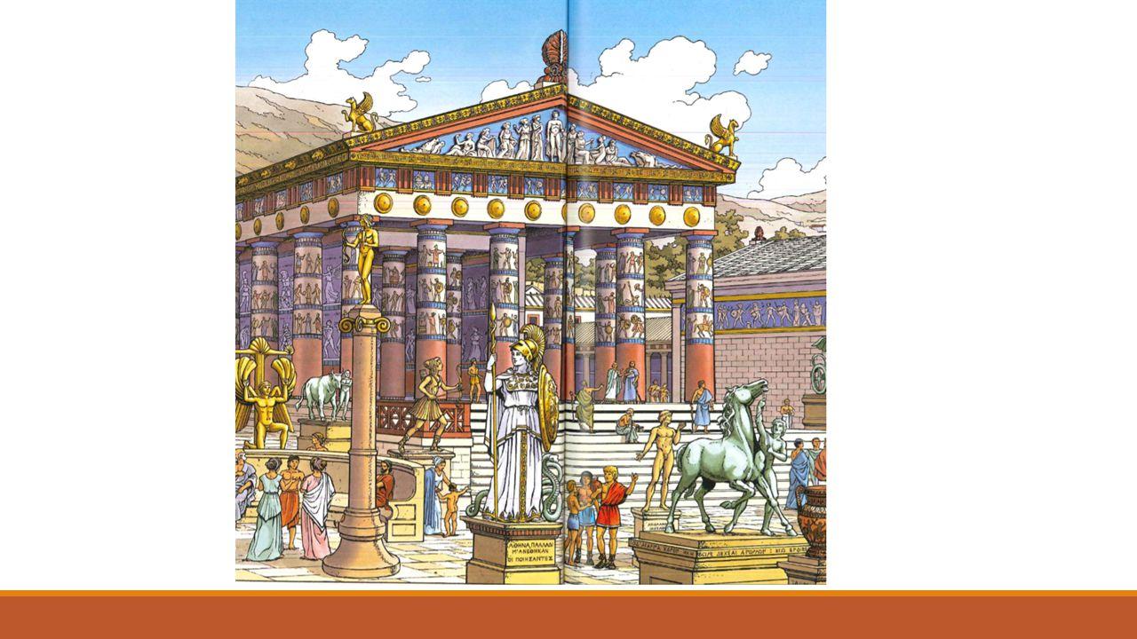 ROMEINEN DE ROMEINEN NAMEN VEEL OVER VAN DE GRIEKEN, MAAR VOEGDEN OOK EIGEN ELEMENTEN TOE.