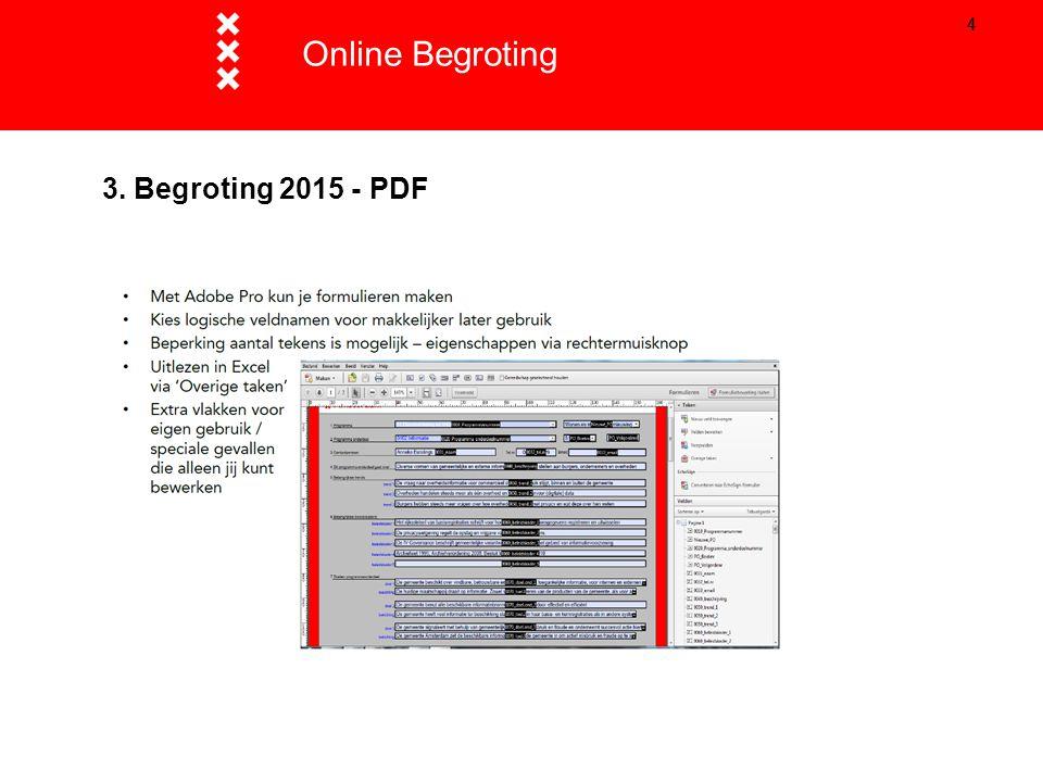 55 3. Begroting 2015 - Excel Online Begroting