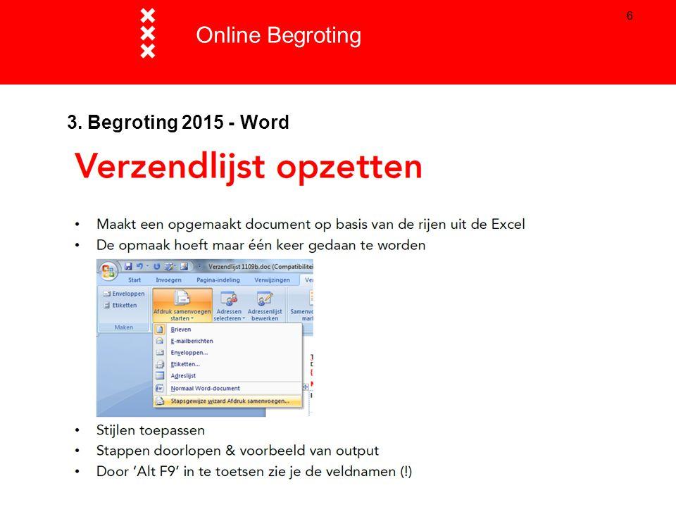 66 3. Begroting 2015 - Word Online Begroting