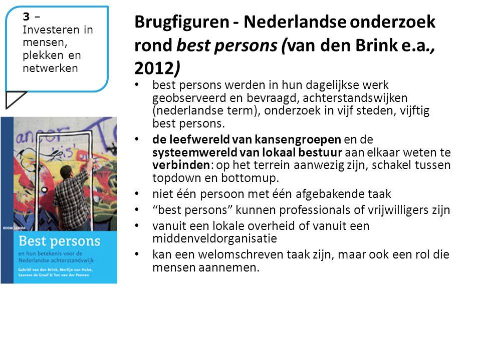 best persons werden in hun dagelijkse werk geobserveerd en bevraagd, achterstandswijken (nederlandse term), onderzoek in vijf steden, vijftig best persons.
