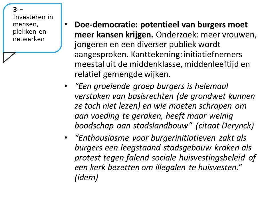 Doe-democratie: potentieel van burgers moet meer kansen krijgen.