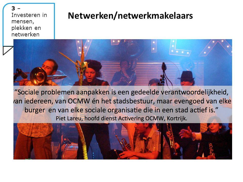 Netwerken/netwerkmakelaars 3 – Investeren in mensen, plekken en netwerken