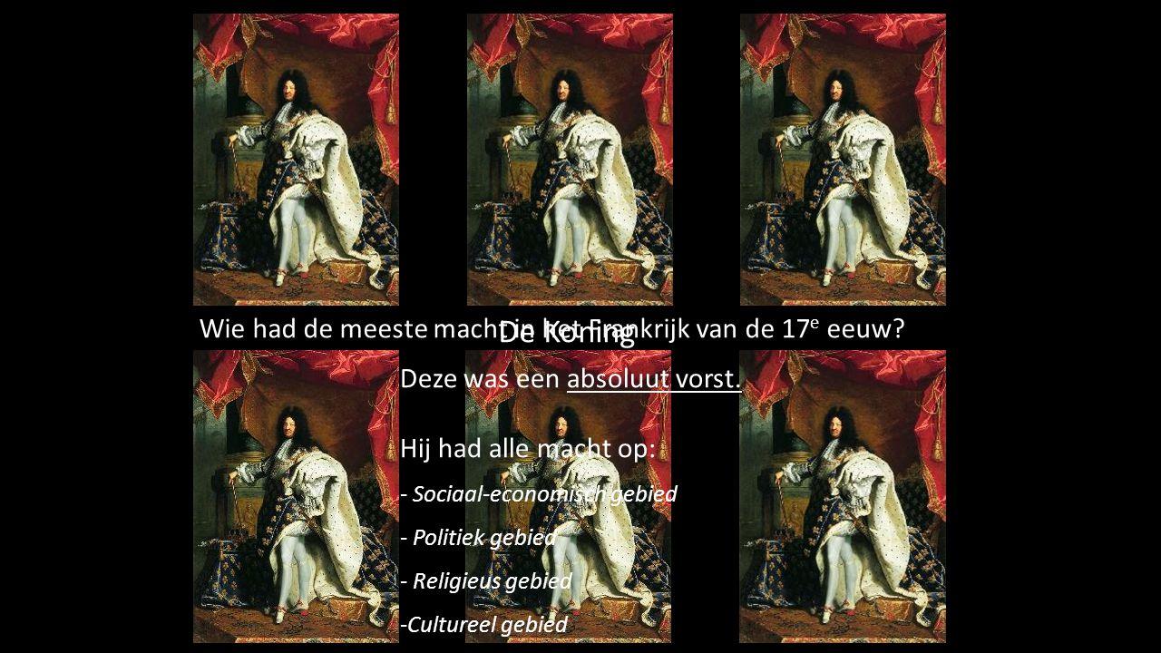 I De Koning Deze was een absoluut vorst. Hij had alle macht op: - Sociaal-economisch gebied - Politiek gebied - Religieus gebied -Cultureel gebied