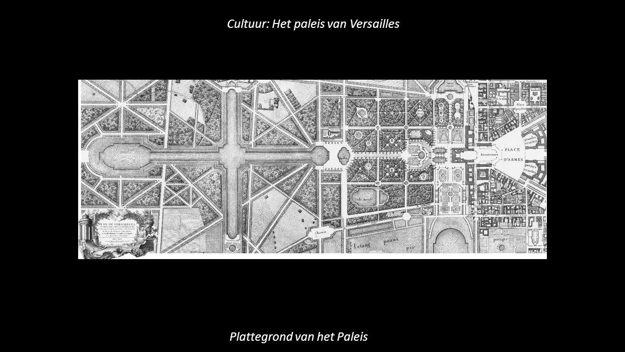 Cultuur: Het paleis van Versailles Plattegrond van het Paleis