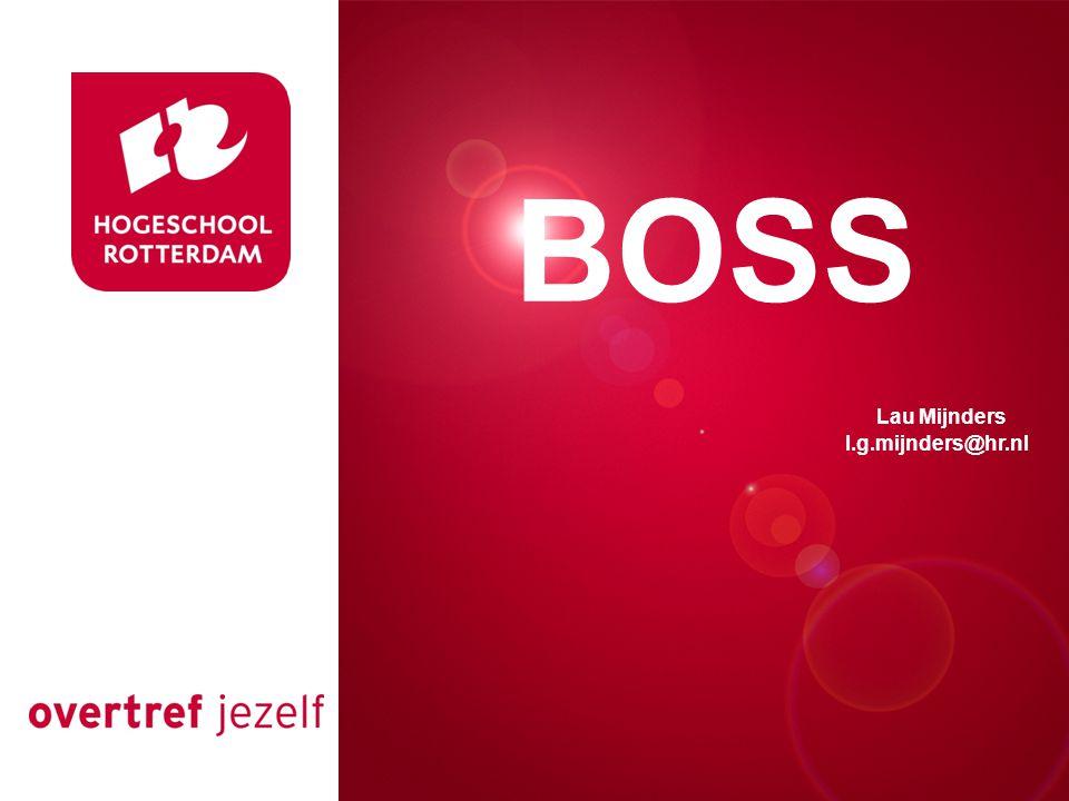 Presentatie titel Rotterdam, 00 januari 2007 BOSS Lau Mijnders l.g.mijnders@hr.nl