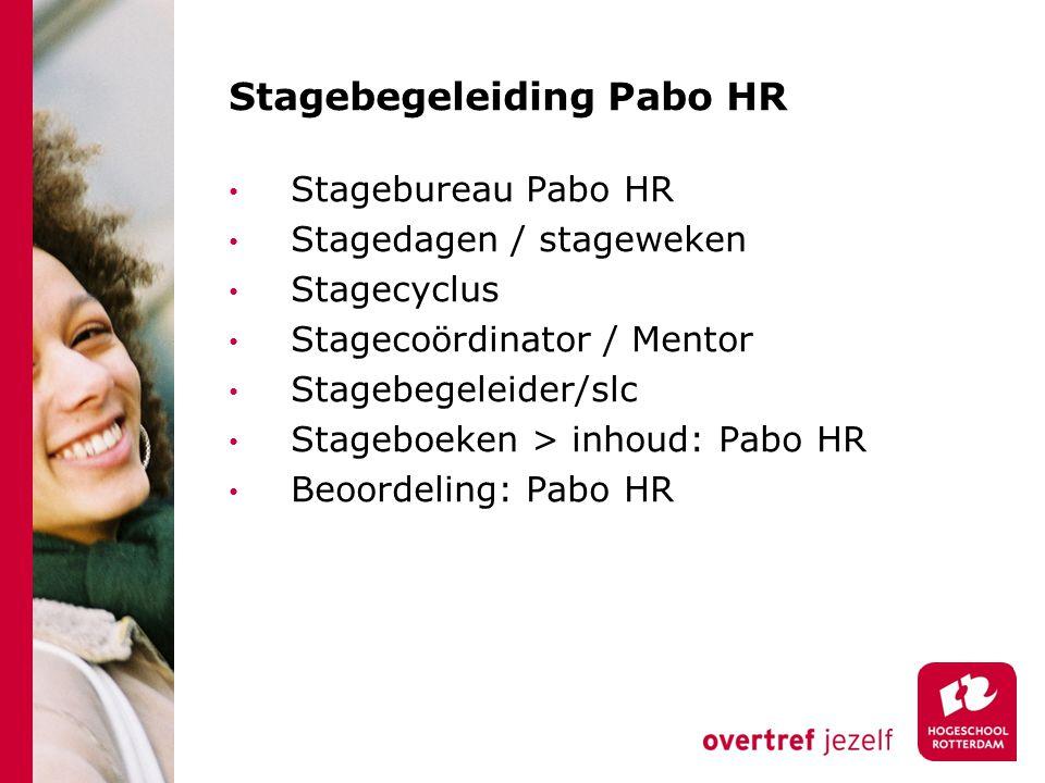 Stagebegeleiding Pabo HR Stagebureau Pabo HR Stagedagen / stageweken Stagecyclus Stagecoördinator / Mentor Stagebegeleider/slc Stageboeken > inhoud: P