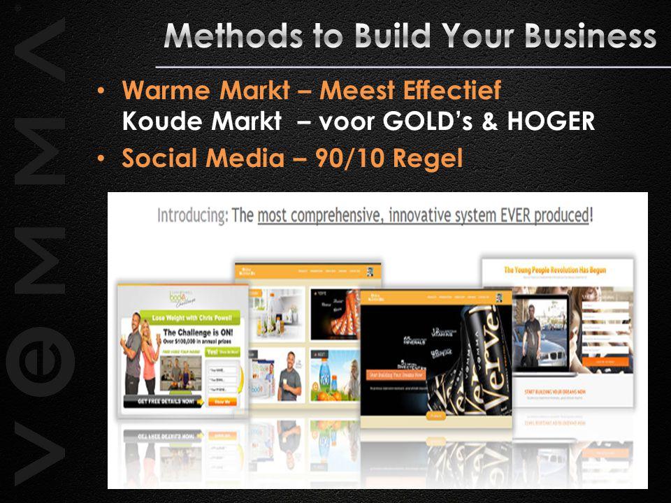 Warme Markt – Meest Effectief Koude Markt – voor GOLD's & HOGER Social Media – 90/10 Regel