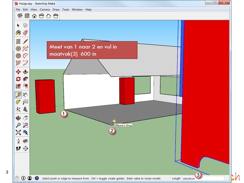 Verbindingslijnen verwijderen  Doe zo een aantal muren en open dan  fase2-muren-verhoogd.skp.