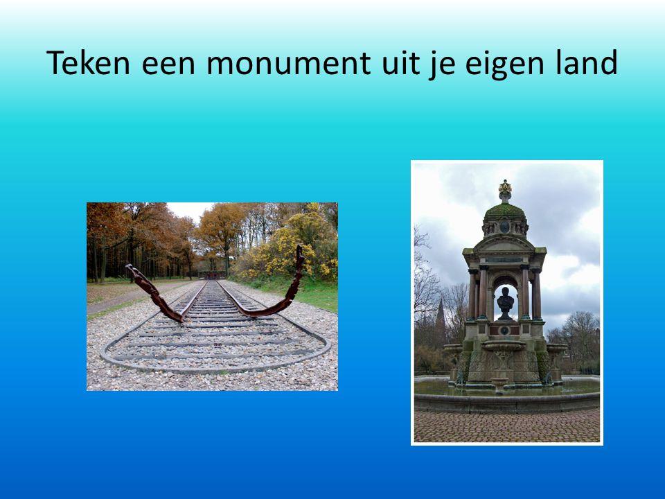 Teken een monument uit je eigen land