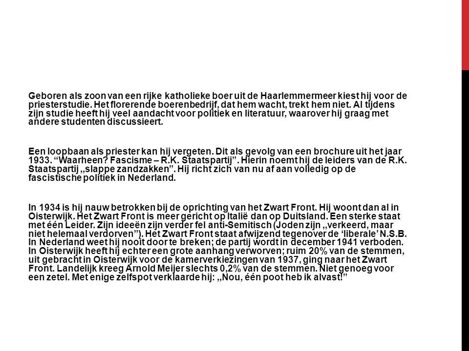 Geboren als zoon van een rijke katholieke boer uit de Haarlemmermeer kiest hij voor de priesterstudie. Het florerende boerenbedrijf, dat hem wacht, tr