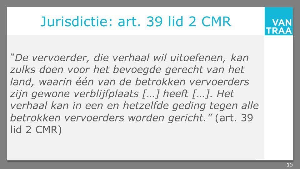 Jurisdictie: art.