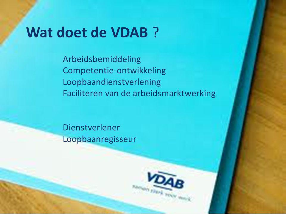 Wat doet de VDAB .