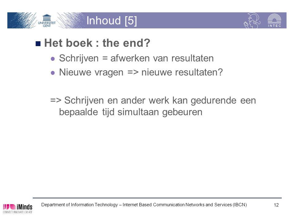 Inhoud [5] Het boek : the end.
