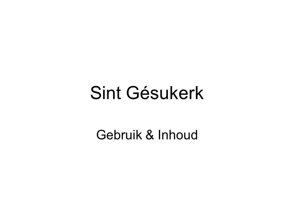 Sint Gésukerk Gebruik & Inhoud