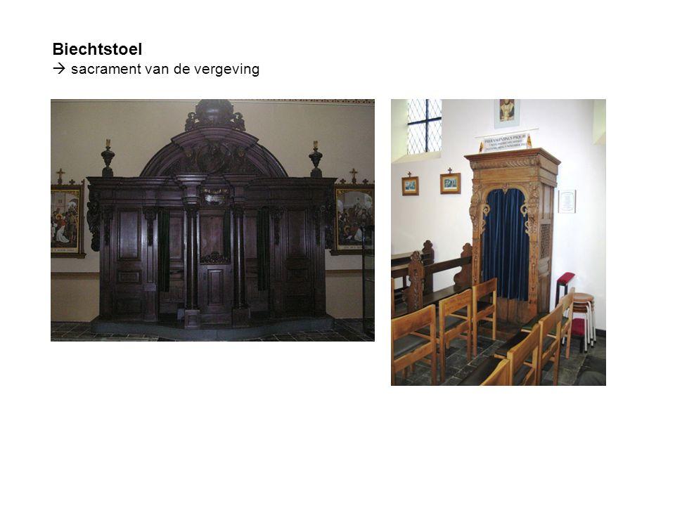 Biechtstoel  sacrament van de vergeving